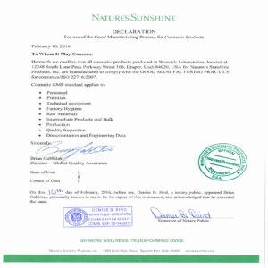 Сертификат GMP (косметика)
